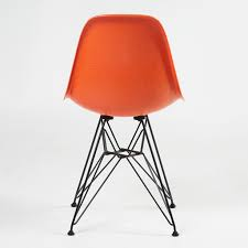 DSR Fiberglass Side Chair Red Orange & Dark - The Conran Shop Charles And Ray Eames Chair Vitra Plastic Armchair Daw With Full Upholstery Side Dsw By 1950 Style Dowel And Chairs 115 For Sale At 1stdibs Lounge Ottoman Herman Miller Eiffel Inspired Ding Retro Design Dsr Viaduct