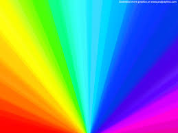 Rainbow wheel background