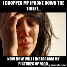 i dropped my iphone down the toilet now how will i instagram my