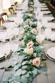 Greenery And Floral Garland Wedding Table Runner