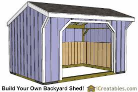 10x14 Garden Shed Plans by 10x14 Run In Shed With Wood Foundation Horses U0026 Barns