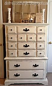 Like The Choices Of Where To Distress On Square Drawers White Chalk Paint