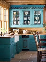 dark teal cabinets rustic look kitchen pinteres
