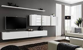 all4all wohnwand mithochglanz tv board anbauwand schrankwand fernsehwand wohnzimmerset lowboard kleine wohnwand fernsehschrank tv lowboard weiß