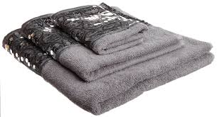 amazon com popular bath sinatra silver 3 piece towel set home