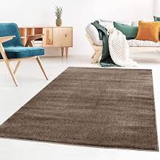 taracarpet kurzflor designer uni teppich weich fürs wohnzimmer schlafzimmer esszimmer oder kinderzimmer gala braun 200x250 cm