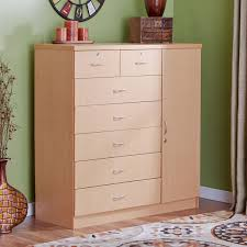 South Shore Libra Dresser White by Natural 7 Drawer Dresser Storage Chest Bedroom Cabinet Wood