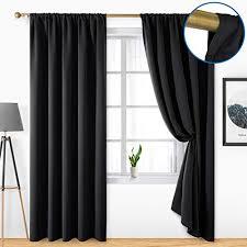schwarz thermo vorhänge und weitere gardinen vorhänge