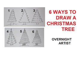 Christmas Trees Types by How To Draw Christmas Trees 6 Easy Ways To Draw Xmas Tree Youtube