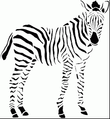 Excellent Baby Zebra Coloring Pages With Page And For Preschoolers