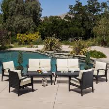 Ebay Patio Furniture Cushions by Crosley Catalina 4 Piece Outdoor Wicker Curved Conversation Set