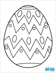 Decorative Easter Egg Painted Coloring Page