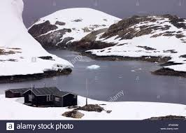 100 Antarctica House The Ex British Base Wordie On White Island Stock