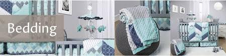 Aqua And Coral Crib Bedding by Baby Crib Bedding