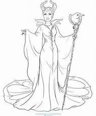 Disney Villains Maleficent Coloring Pages