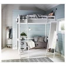storå loft bed frame white stain 140x200 cm ikea