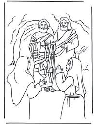 Resurrection Of Lazarus Bible Coloring Page