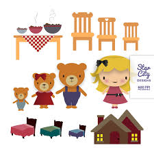 Goldilocks And The Three Bears Clipart 1