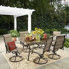 grand resort 7 piece oakdale padded sling dining set limited