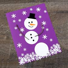 How To Make The Happiest Paper Snowman Art For Kids