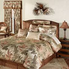 Bed Comforter Set by Bali Palm Tropical Comforter Bedding By Croscill