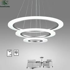 moderne diy aluminium ringe led pendelleuchten glanz acryl schlafzimmer led pendelleuchte esszimmer led hängen leuchten