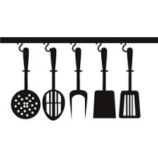adhésif décoratif spatules et ustensiles de cuisine
