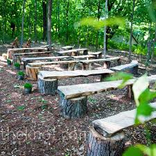 Rustic Pews Benches From Tree Stumps And Wood Love This Idea For Around A Firepit