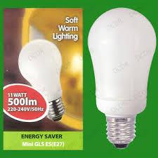 4x 11w warm white low energy power saving cfl mini gls light bulb