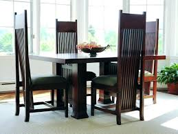 Dining Chairs Long Back Decoration Mission Style Room With Furniture