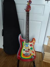 Stratocaster Which I Custom Painted To Match George Harrisons Rocky Crazy Psychedelic Paint