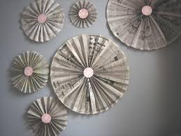 Wall Decoration Ideas DIY Accordion Pinwheel Fan