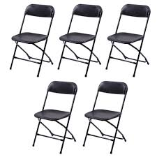 US $64.69 |5 Pcs Plastic Folding Chairs Wedding Banquet Seat Premium Party  Event Chair Black US Shipping-in Conference Chairs From Furniture On ...