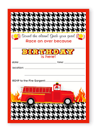 Fireman Party LARGE Invitations - Firefighter Party Invitations - 10 ...