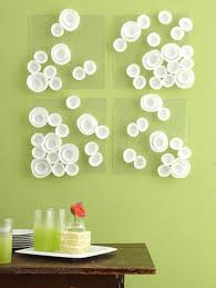 Decoration Charming Interior Room Design Idea With Chic Diy Modern Art Attached On The Wall