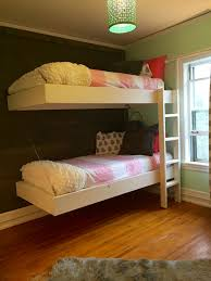Bunk Bed Plans Pdf by Ana White Floating Bunk Beds And Desk Diy Projects