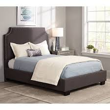 Newport Graphite Linen Hand Crafted Upholstered Bed 8Y532