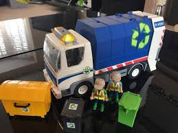 Playmobil Bin Lorry Rubbish Truck With Flashing Lights | In ...