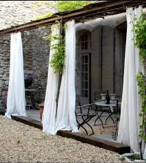 Patio Curtains Outdoor Idea by Back House White Curtains With White Curtains Design Ideas With