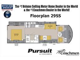Coachmen Class C Motorhome Floor Plans by 2018 Coachmen Pursuit Precision 29ssp Rv W Ext Kitchen 2 A C Oh