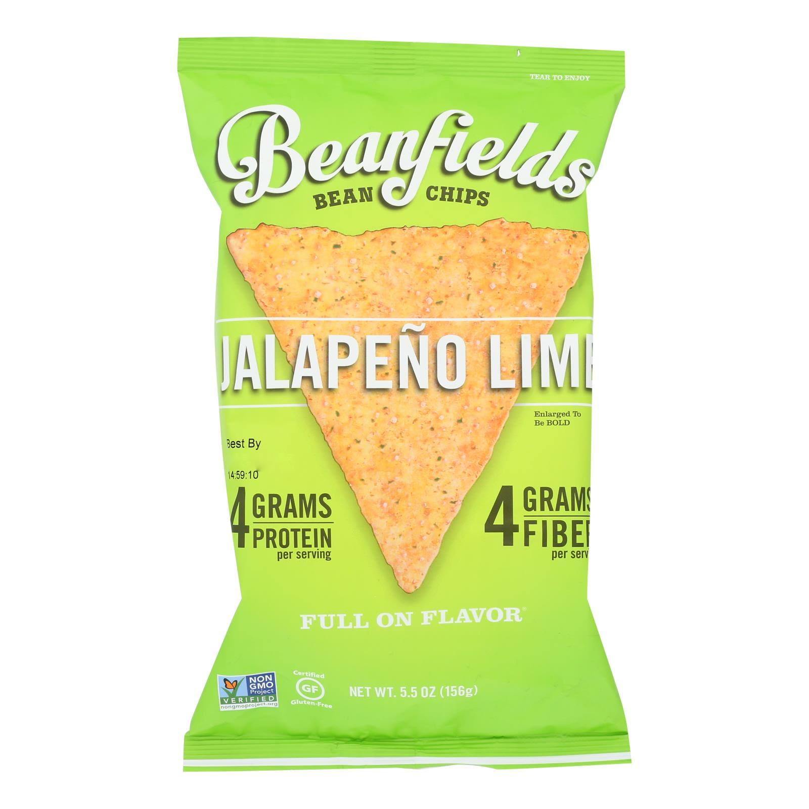 BEANFIELDS: Jalapeno Lime Bean Chips, 5.5 oz