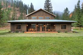 seattle pole building houses exterior rustic with dark wood wooden