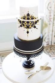 contemporary wedding cake wedding cakes London monochrome black gold