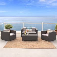 Patio Conversation Sets Canada by Best Selling Home Decor Puerta 4 Piece Outdoor Wicker Sofa Set