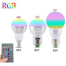 e27 e14 led 16 color changing rgb magic light bulb l 85 265v