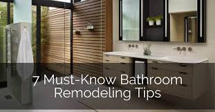 7 must bathroom remodeling tips home remodeling