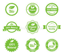 Download Eco Vintage Labels Bio Template Set Stock Vector