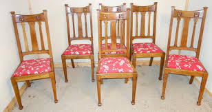 Set Of 6 Art Nouveau Oak Dining Chairs - LA61444   LoveAntiques.com Set Of 4 Quality Art Nouveau Golden Oak High Slat Back Ding Chairs 554 Art Nouveau Ding Table And Chairs 3d Model Vintage 6 Antique French 1900 Walnut Nailhead Set 8 Edwardian Satinwood Beech Four Art Nouveau Louis Majorelle Ding Chairs Jan 16 2019 Room And Sale Mid Century Hand Made Game By Terry Bostwick Casa Padrino Luxury Dark Brown Cream 51 X Round In The Unique Timeless Tufted Armchair Chair Blue Velvet Navy 1900s Vinterior