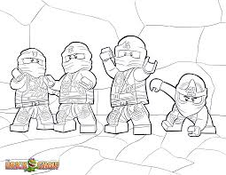 LEGO Ninjago Coloring Pages Free Printable Color Sheets