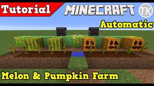 Pumpkin Farm Minecraft Observer by Fully Automatic Afk Melon U0026 Pumpkin Farm Minecraft Tutorial 1 12